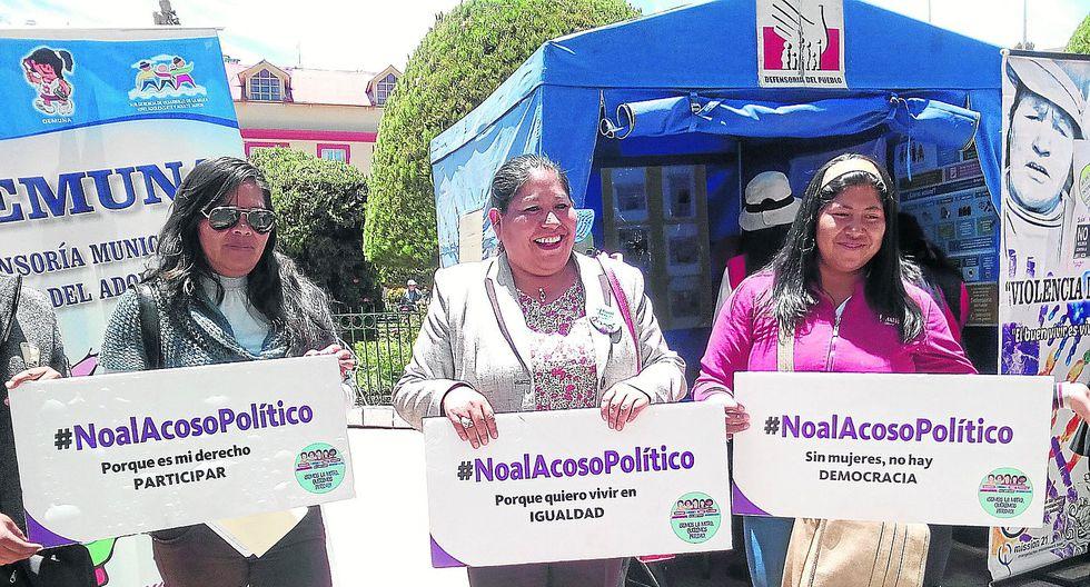 Se presentaron 8 casos de acoso político a la mujer en la región