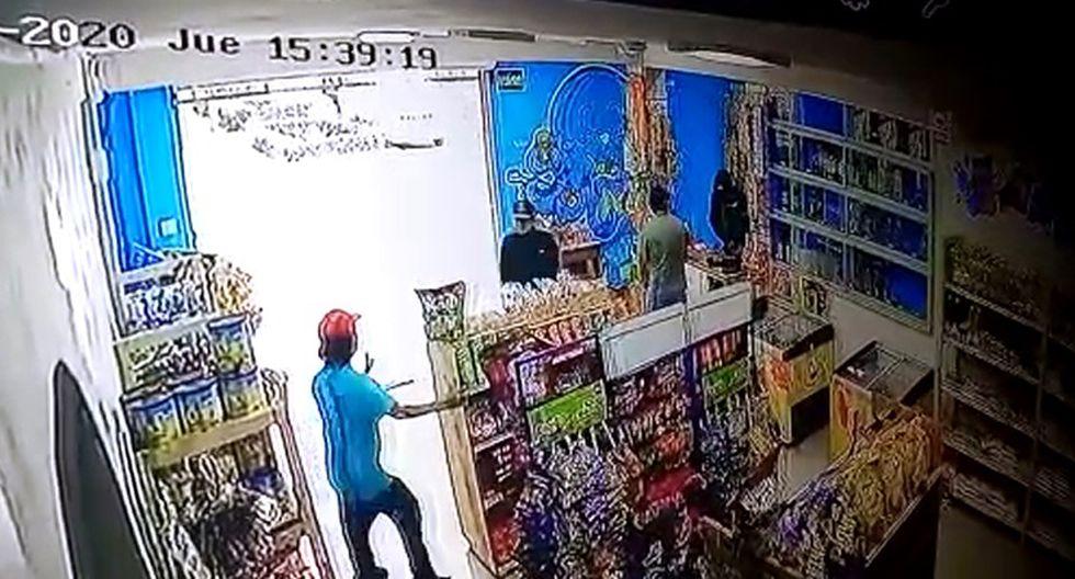 Delincuentes actuaron con completa ferocidad en asalto. (Captura video PNP)