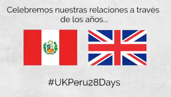 Reino Unido le dedicó mensaje al Perú por Fiestas Patrias. (Foto: Twitter @UKinPeru)