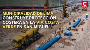 Municipalidad de Lima construye protección costera en la vía Costa Verde en San Miguel