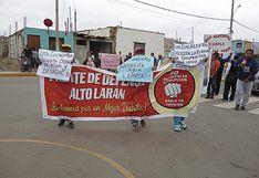 Alto Larán sale a las calles para exigir obras a la comuna