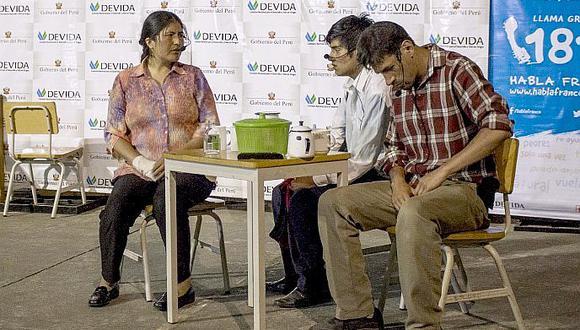 Buscan prevenir el consumo de drogas a través del teatro en Cusco (FOTOS)
