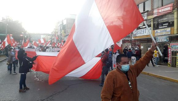 Cusco. Marcha Fuerza Popular. Foto: Juan Sequeiros.