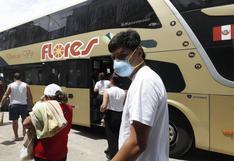 Transporte interprovincial terrestre y aéreo queda suspendido en regiones que retornaron a cuarentena