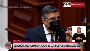 """Alex Paredes de Perú Libre durante su juramentación: """"Aquí no hay un pesetero"""" (VIDEO)"""