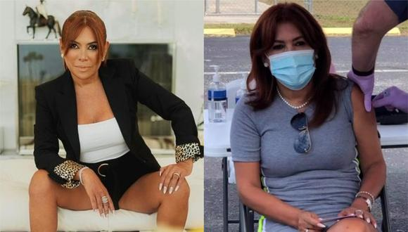 La conductora de Magaly TV La Firme se inmunizó contra el coronavirus (Instagram).