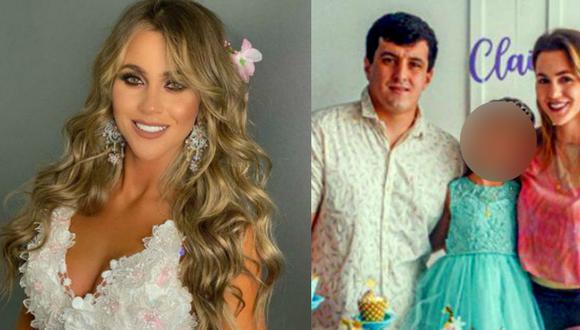 Ducelia Echevarría niega que su pareja se haya molestado por ser vinculada con Israel Dreyfus y Diego Chávarry.