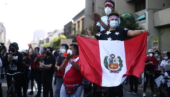Manuel Merino renunció a la presidencia en el séptimo día consecutivo de protestas. (Foto: Jesús Saucedo / GEC)