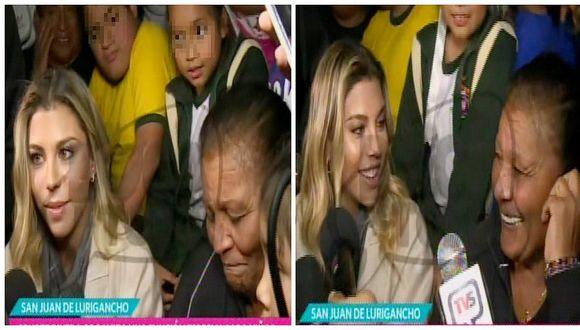 Alondra García Miró: así reaccionó cuando le dijeron que es 'amuleto' de Paolo Guerrero (VIDEO)