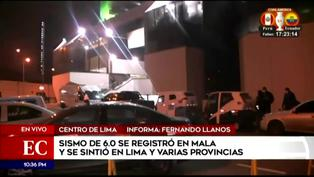 Temblor en Lima: ciudadanos salieron a las calles en el centro de Lima