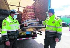 Camuflaron 850 kilos de insumos para droga en camión de fideos para llevarlos de Lima a Huancavelica (VIDEO)