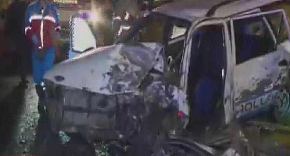 Aparatoso choque entre auto y camioneta dejó cinco heridos en La Molina (VIDEO)