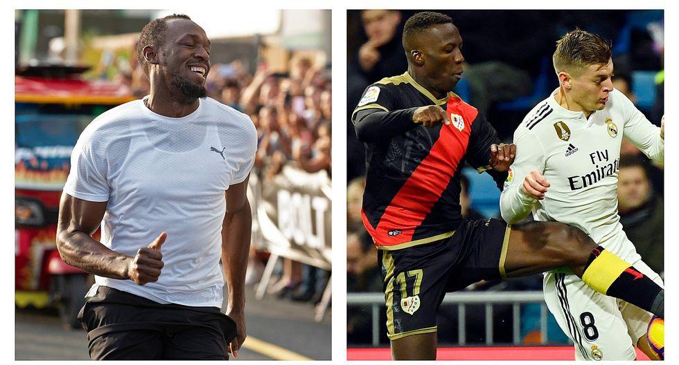 La Liga española le envió un mensaje a Usain Bolt por decir que no conocía Luis Advíncula (VIDEO)