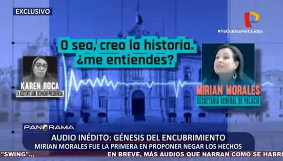 Revelan nuevos audios entre la exsecretaria general de Palacio de Gobierno, Mirian Morales, y la ahora exsecretaria personal de Martín Vizcarra, Karem Roca. (Foto: Panamericana)