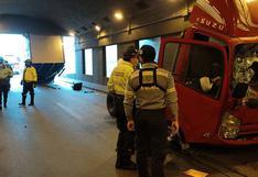 Surco: furgoneta quedó dividida en dos al impactar en el túnel del óvalo Higuereta
