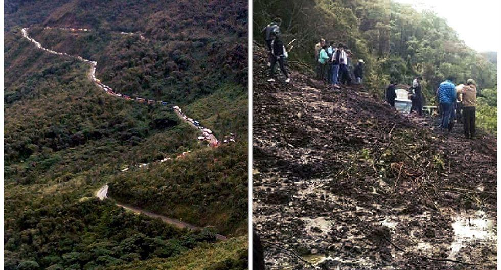 Decenas de vehículos varados tras huaico en la vía Cusco - Quillabamba