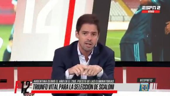 Argentina ganó 2-0 a Perú por Eliminatorias Qatar 2022 y Mariano Closs analizó el partido. (Captura: ESPN)