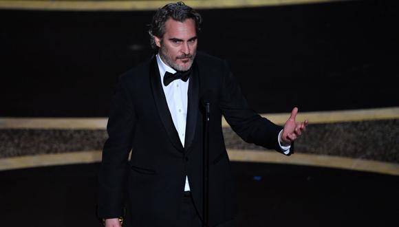 """Joaquin Phoenix se llevó el premio a Mejor actor de los Oscar 2020 por su rol protagónico en """"Joker"""". (Foto: AFP)"""