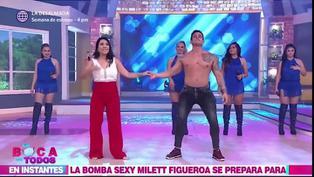 Tula Rodríguez realiza impresionante pirueta en el aire junto a Christian Domínguez