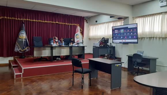 """Audiencia en Sala de Apelaciones de la Corte de Huancavelica del caso """"Laptops""""."""