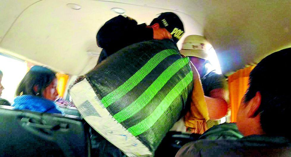Enaco decomisó 200 kilos de hoja de coca en bus interprovincial