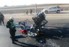 Joven padre de 22 años y su bebé fallecen en accidente en la Panamericana Sur, en Arequipa