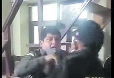 Presidente de la Hermandad de la Iglesia de Otuzco agrede a policías