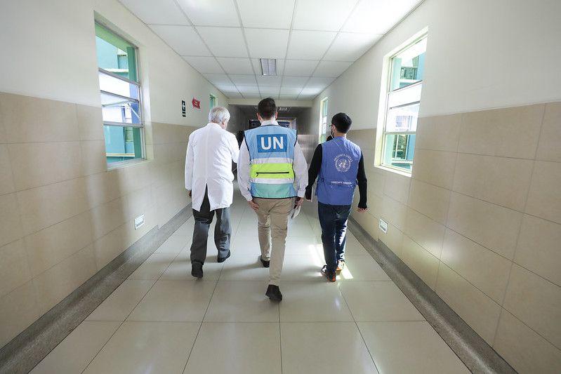 Comisión de la ONU recorrió hospitales de EsSalud para conocer situación de manifestaciones heridos (Foto: EsSalud)