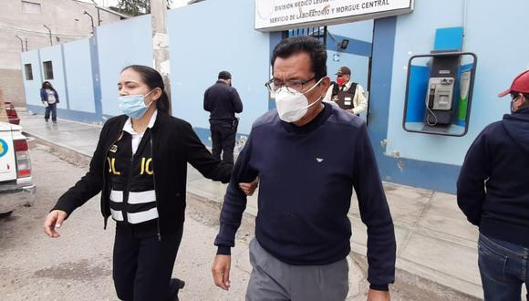 Detienen a exfuncionario de la municipalidad provincial de Chiclayo, Leopoldo Vázquez Casas (75), investigado por la compra, presuntamente, sobrevalorada de gasolina. (Foto Sandro Chambergo)