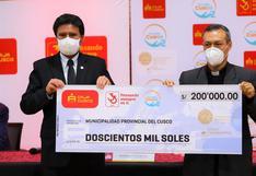 Municipalidad de Cusco entrega 400 mil soles al Arzobispado para planta de oxígeno