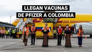 Primer lote de 50.000 vacunas de Pfizer llega a Colombia