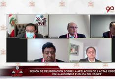 Segunda vuelta: JNE rechazó 10 expedientes de apelaciones presentados por Fuerza Popular