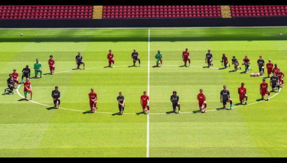 El contundente mensaje de Liverpool contra el racismo. (Foto: Liverpool)