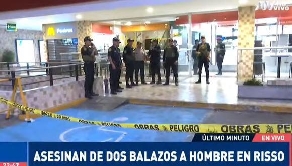 Un hombre fue asesinado en el interior del McDonald's del centro comercial Risso. (ATV+)