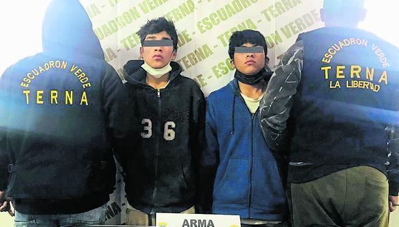 La Policía los atrapó en julio. A ellos se les incautó dos armas de fuego que las usaban para amenazar a sus víctimas.