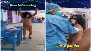 """Ayacucho: Video de hombre que asiste a vacunación vestido de """"picapiedra"""" se viraliza en TikTok"""