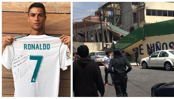 Cristiano Ronaldo envía emotivo mensaje a niño mexicano fallecido en colegio tras terremoto