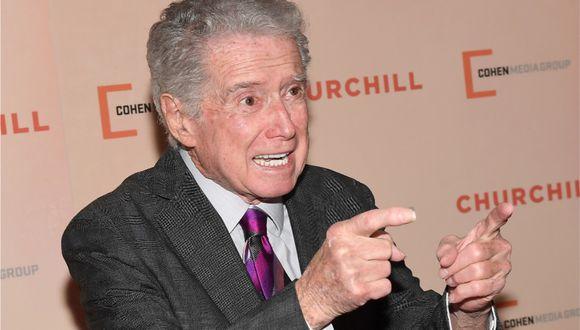 Regis Philbin, reconocido conductor de televisión estadounidense, falleció a los 88 años. (Foto: AFP/Angela Weiss)