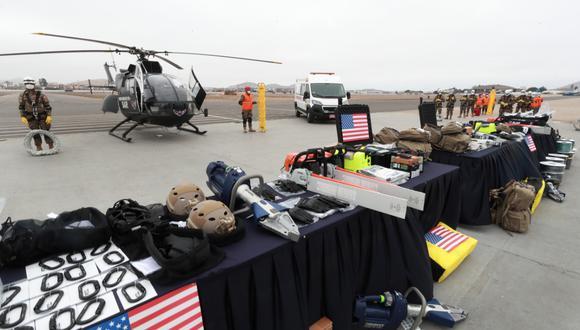 Estados Unidos realizó donación de equipos de búsqueda y rescate valorizados cerca a los US$ 2 millones (Foto: Mindef).
