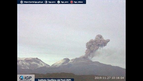 Se intensifican explosiones en el volcán Sabancaya