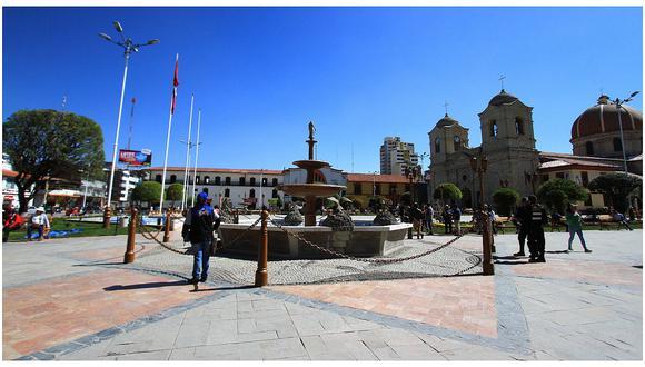 Plaza de la Constitución en la región de Huancayo.   Foto: GEC