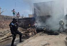 Anciana se quedó sin vivienda tras incendio en Pisco