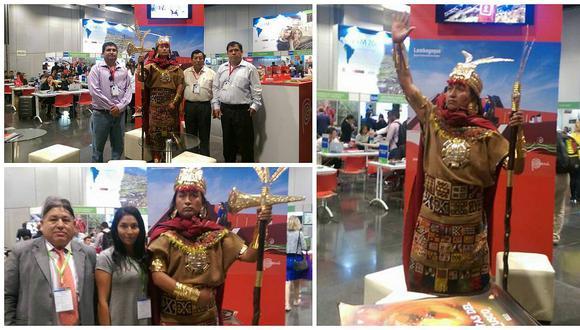 El Inca visita Lima para promocionar las Fiestas del Cusco