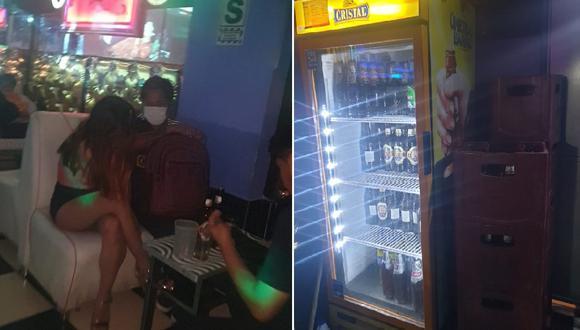 Hombres y mujeres departían, además hallaron cajas de cerveza