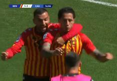 Gianluca Lapadula anotó un gol para poner el 1-1 de Benevento frente a Cagliari en la Serie A (VIDEO)