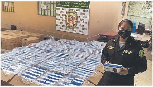 Dos presuntos contrabandistas fueron detenidos por policías de la comisaría de Aguas Verdes, cerca al canal Internacional.