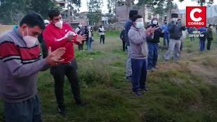 Huancayo: Vecinos de El Tambo aplauden a policías tras intervenir en una fiesta COVID