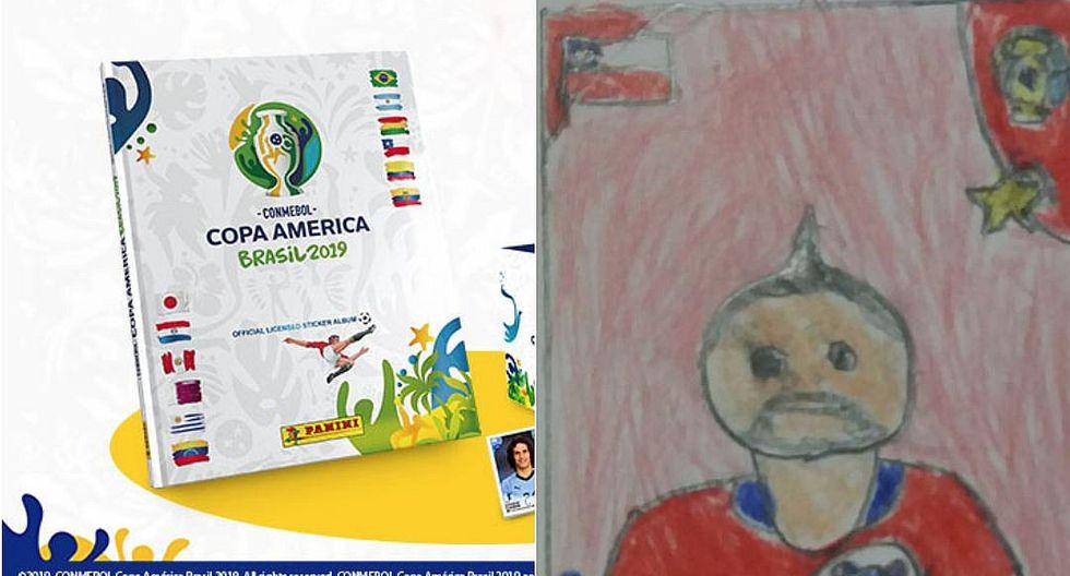 Niño dibujó figuritas del álbum de la Copa América porque su madre no tenía dinero para comprarlas