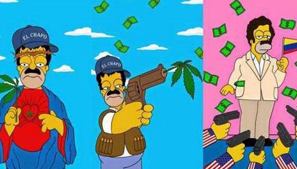 Caracterizan a Homero Simpson como 'El Chapo'