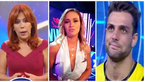 Magaly Medina indignada con Angie Arizaga por defender a Nicola Porcella (VIDEO)